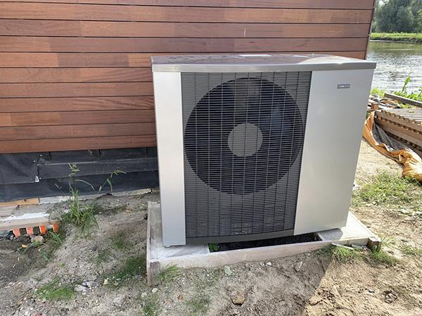 Warmtepomp installatie nieuwbouw Villa te Delft